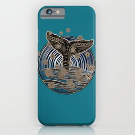 Vintage Whales Tail iPhone Case