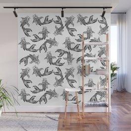 Koi Fish Pattern Wall Mural