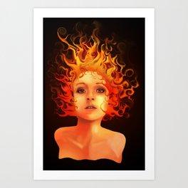 Flame Princess Art Print