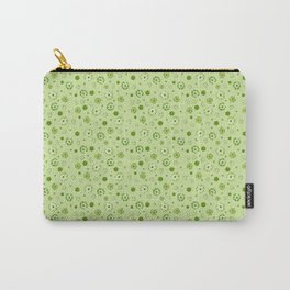 Scatter Flowers Green Carry-All Pouch