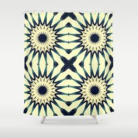 chic Shower Curtains featuring Tropical Paradise Flower Mandala Pattern by 2sweet4words Designs