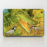 crocodile iPad Cases featuring Crocodile by Natalie Berman