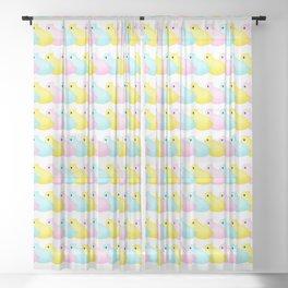 Peeps Pattern Sheer Curtain