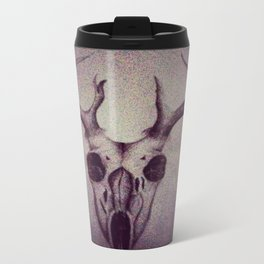 Deer Skull Metal Travel Mug