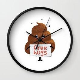 Free Hugs Poop Wall Clock