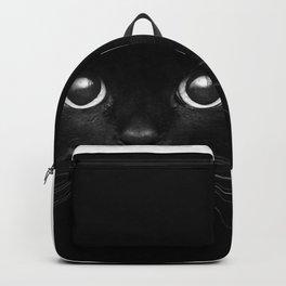 Black Cat Face Backpack