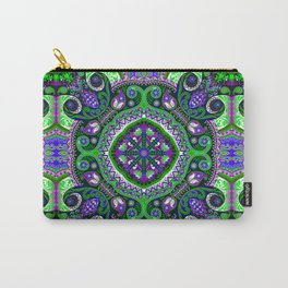 Boho Kaleidoscope Floral Pattern Var. 4 Carry-All Pouch