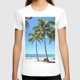 Palm Tree with Hawaii Summer Sea Beach T-shirt