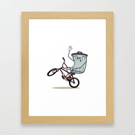Wheelie Bin Framed Art Print