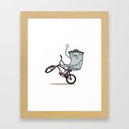 Wheelie Bin Framed Art Print