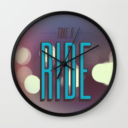 Take A Ride Wall Clock