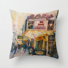 BB Kings NYC Throw Pillow