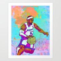 lebron Art Prints featuring LeBron James by Maddison Bond