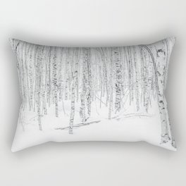 Swedish Birch Trees Rectangular Pillow