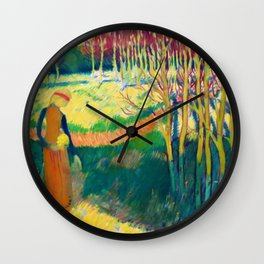 Maurice Denis  - Motif Romanesque - Digital Remastered Edition Wall Clock