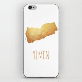 Yemen iPhone Skin
