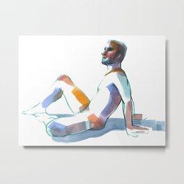 BRYAN, Nude Male by Frank-Joseph Metal Print