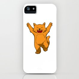 Jubilation Cat Dance Emote Funny Gift iPhone Case