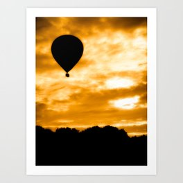 Balloon Rise Art Print