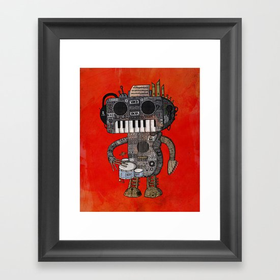 Musicbot Framed Art Print