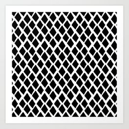 Rhombus Black And White Art Print