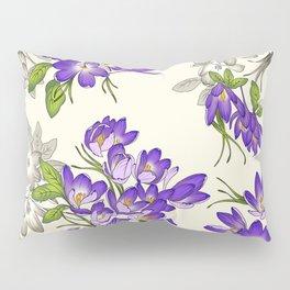 Purple Crocus Pillow Sham