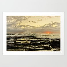Sun Rise the golden light  Art Print