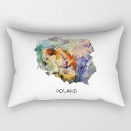 Map of Poland watercolor Rectangular Pillow