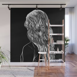 Hair in Black Wall Mural