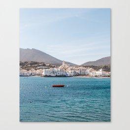The Red Boat - Cadaques, Catalunya Canvas Print
