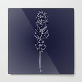 floweret navy Metal Print