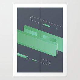 Geometric composition 3 Art Print