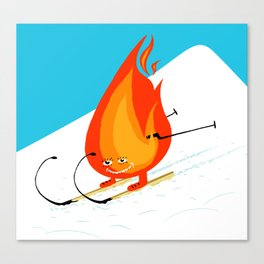 snow and fire Canvas Print