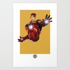 Iron Man Polygon Mesh Art Print