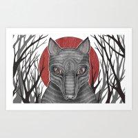 Four Arms - Wolf Art Print
