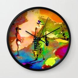 jardin multicolore Wall Clock