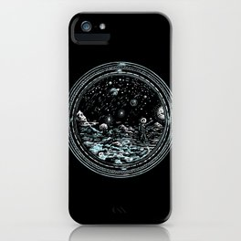 Miniature Circle Landscape 2: Astronausea.. iPhone Case