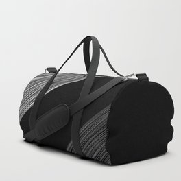 Black white pattern 4 Duffle Bag