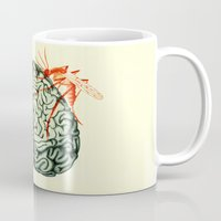 brain Mugs featuring Brain by Emilie Ringlet
