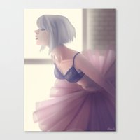 ballerina Canvas Prints featuring Ballerina by Renee Chio