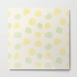 Sunny Summer Pattern - Minimalistic Abstract Metal Print