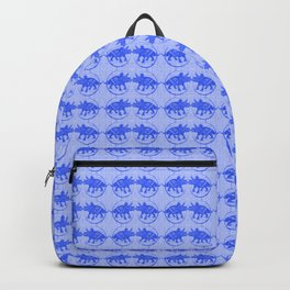 Blue Dinosaur Triceratops Pattern Ultra High Definition Backpack