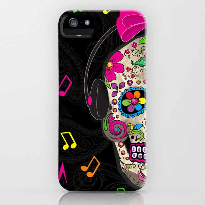 Sugar Skull Music iPhone Case
