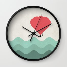 The Hot Air Balloon {The Boring Afternoon Design Series} Wall Clock