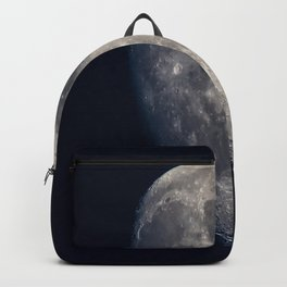 Moon - Waxing Gibbous Moon with Visible Craters Backpack