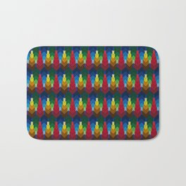 Trees in the style of bargello needle point Bath Mat