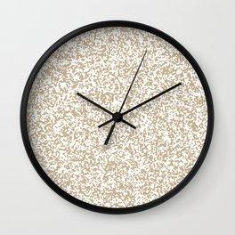 Tiny Spots - White and Khaki Brown Wall Clock