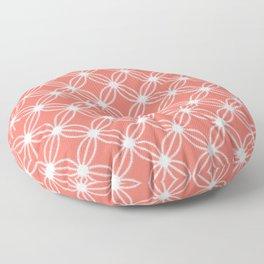 Abstract Circle Dots Peach II Floor Pillow