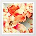 Beautiful Beetle on Peony Flowers #decor #society6 #buyart by pivivikstrm