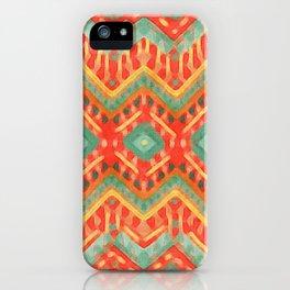 itzel - orange + green iPhone Case